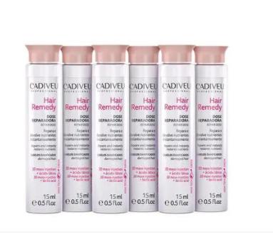 Cadiveu Hair Remedy Dose Reparadora Ampola 6 x 15ml - P