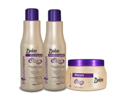 Detra Nutri Control Kit Shampoo 500ml - Condicionador 500ml e Máscara 400g - R
