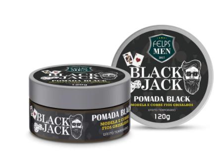 Felps Men Black Jack Pomada Black Efeito Temporário 120g - P