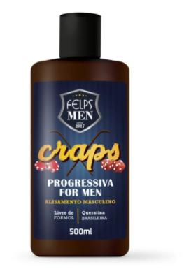 Felps Men Progressiva For Men Alisamento Masculino Craps 500ml - P