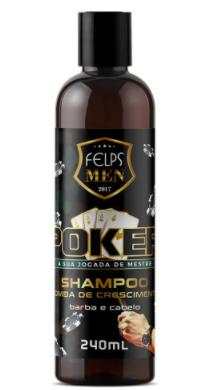 Felps Men Shampoo Barba e Cabelo Poker 240ml - P
