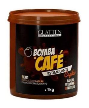 Glatten Bomba de Café Máscara Estimulante Capilar 1kg - T