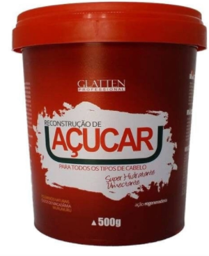Glatten Professional Hidratação de Açúcar Máscara de Hidratação 500g - T