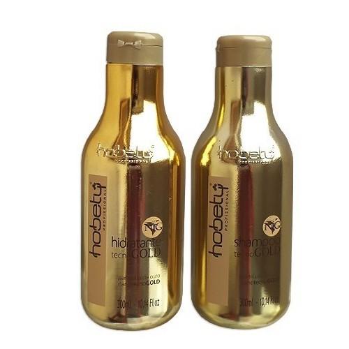 Hobety Tecno Gold Shampoo e Hidratante 2x 300ml
