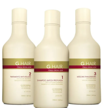 Inoar G-Hair Kit Escova Progressiva Alemã 3x250ml-R