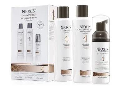 Kit Nioxin System 4 Para Cabelos Finos (3 Produtos)