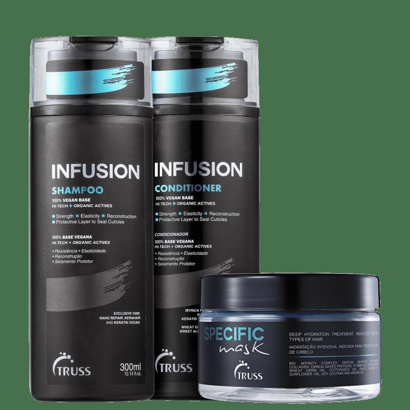 Kit Truss Infusion 3 Produtos - Shampoo Condicionador 2x 300ml + Infusion 650ml