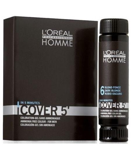 Loreal Homme Cover 5 Tintura Capilar Temporária Blond Force n6 (Loiro Escuro)