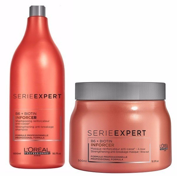 Loreal Professionnel Inforcer Kit Shampoo 1500ml + Mascara 500g - CA