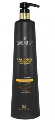 Minas Flor Shampoo Ourotox Black Gold 1000ml