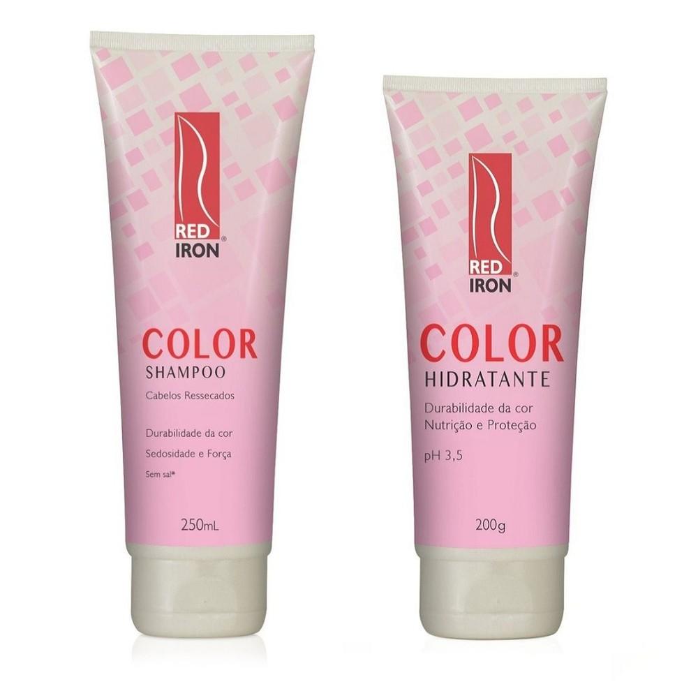 Red Iron Color 2 Produtos - Shampoo Cabelos Ressecados 250ml + Hidratante 200g