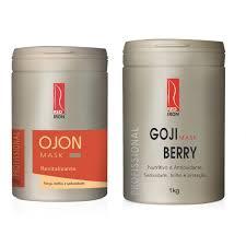 Red Iron Mascara Revitalizante Ojon 1kg + Red Iron Máscara Nutritiva Antioxidante Goji Berry 1kg