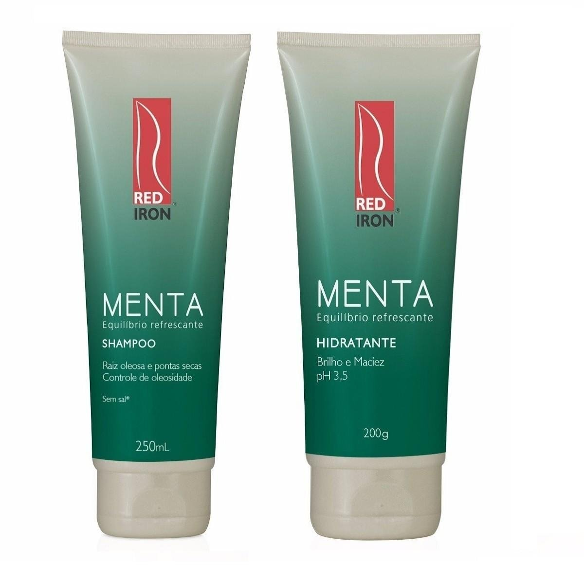 Red Iron Menta Equilíbrio Refrescante Kit Shampoo 250ml + Hidratante 200ml