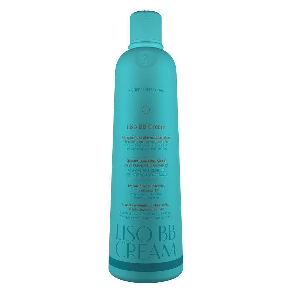 Richée Profissional Shampoo Antirresiduo Liso Bb Cream 1L - T