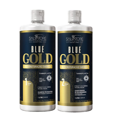 Salvatore Blue Gold - Escova Progressiva Italiana 2x 1000ml - R
