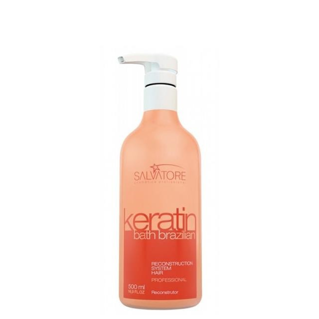 Salvatore Keratin Bath Brazilian - Creme Reconstrutor 500ml - R