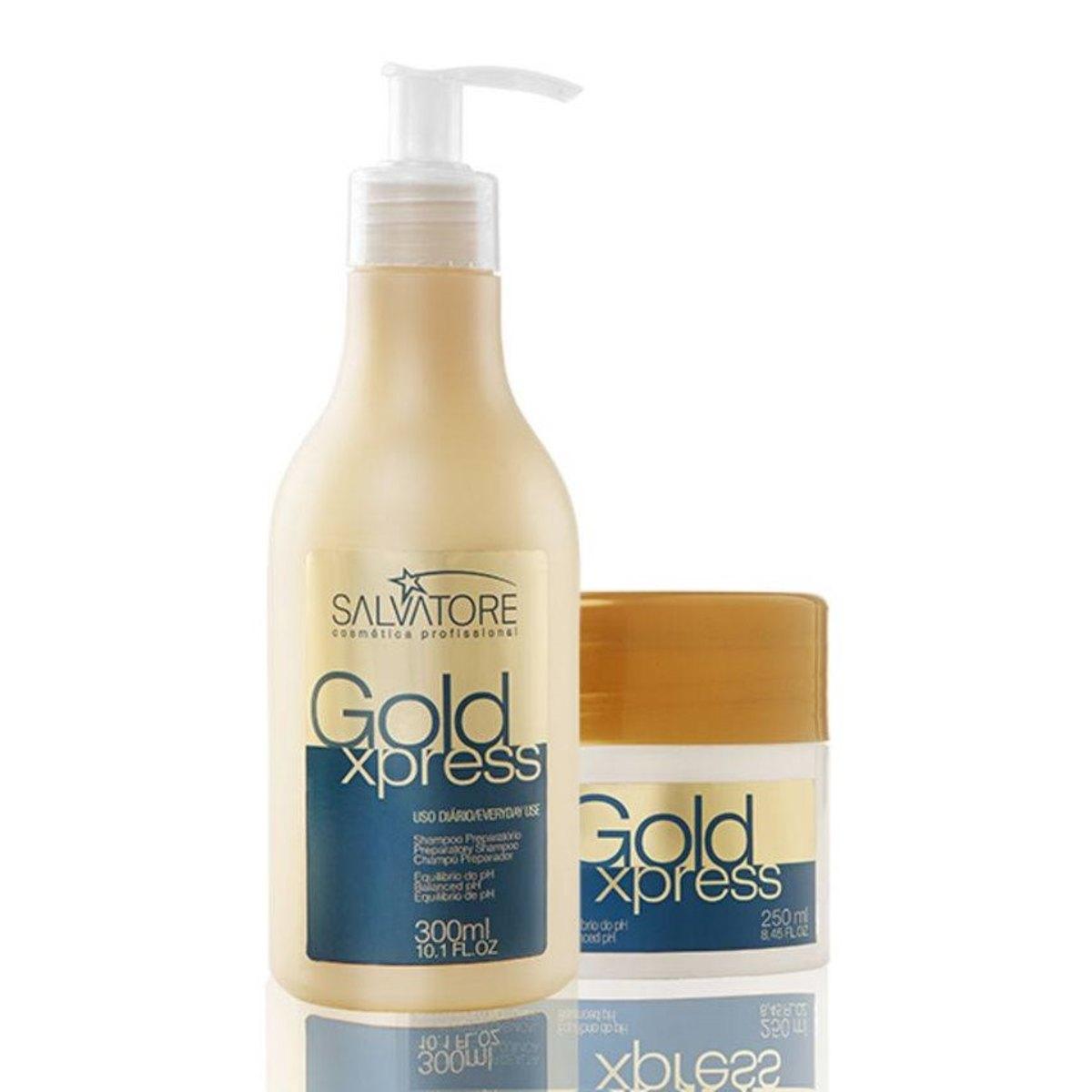 Salvatore Shampoo 300ml + Máscara Salvatore Gold Xpress 250ml - R