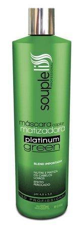 Souple Liss Máscara Capilar Matizadora Platinum Green 300ml - T