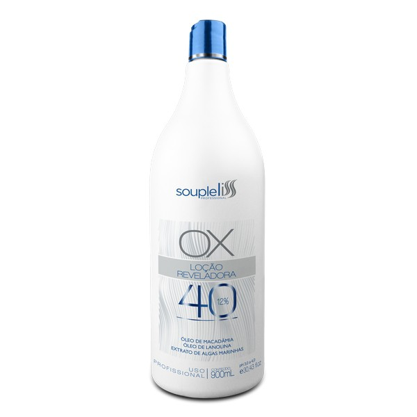 Souple Liss - OX Loção Reveladora Água Oxigenada 40 Volumes 900ml - T