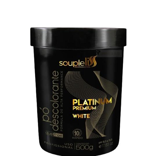 Souple Liss Pó Descolorante Platinum White Dust Free 500g - T