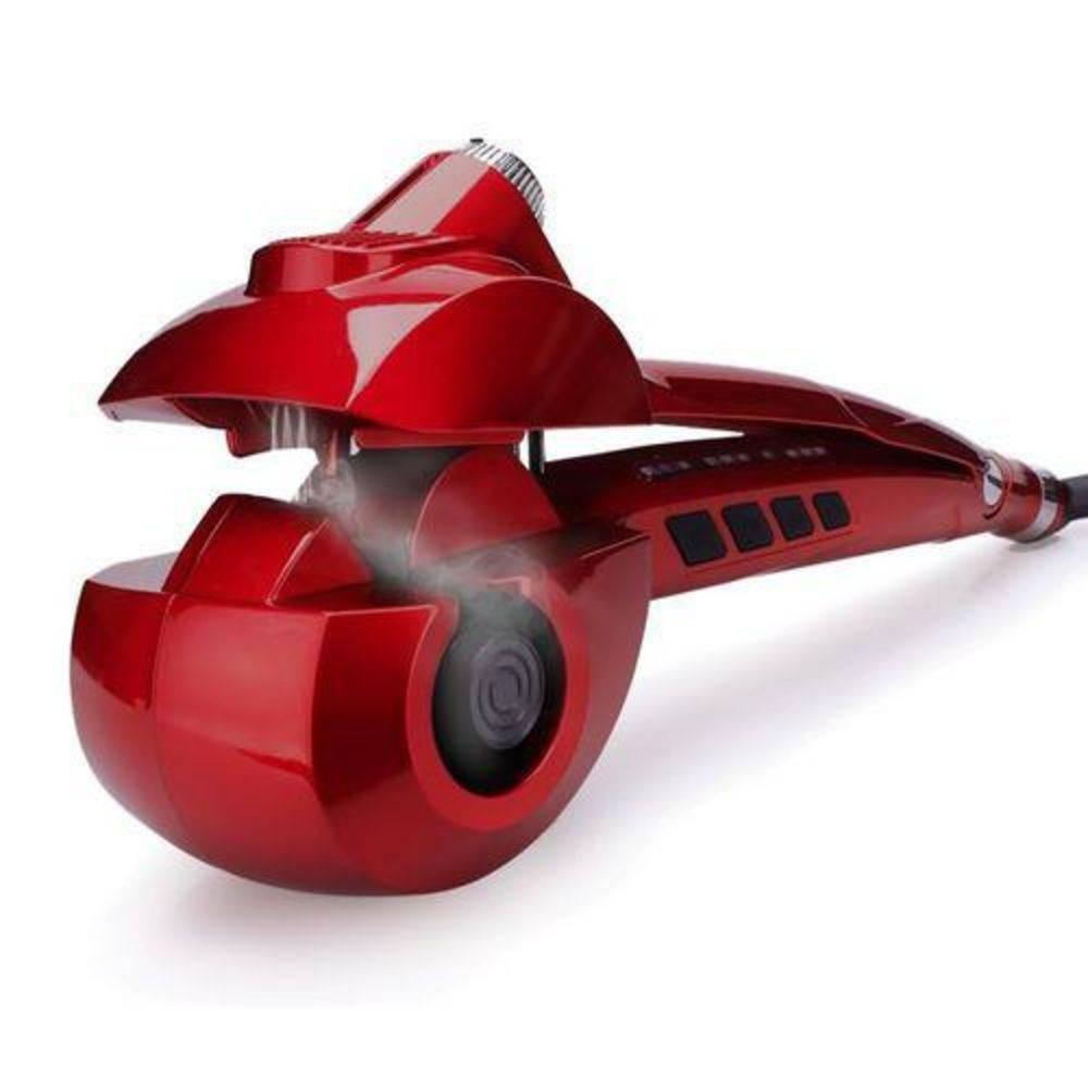 Steamer Curl Cacheador Vapor Modelador De Cachos Bivolt Vermelho - R