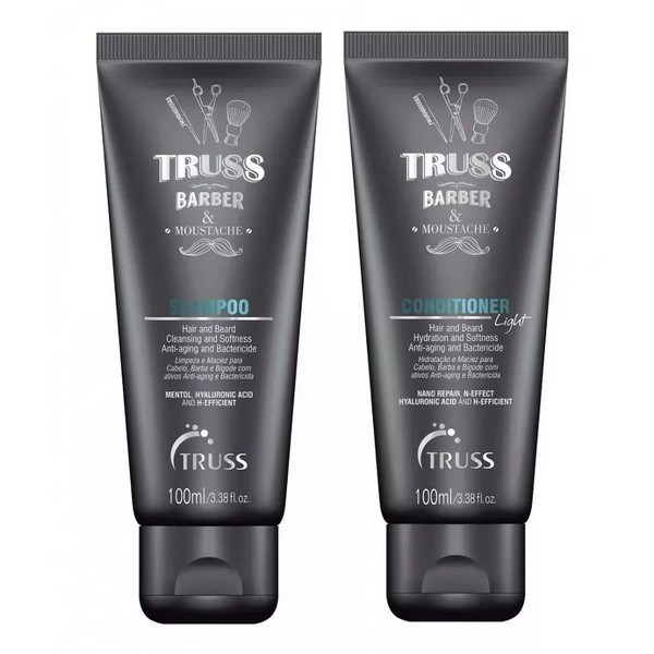 Truss Professional Barber & Mustache Care Kit  2x 100ml