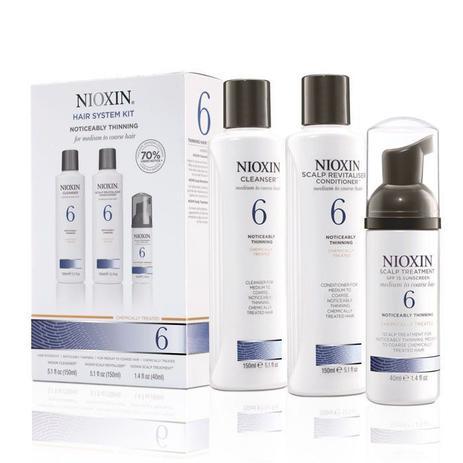 Wella Nioxin System 6 Para Cabelos Normais a Espessos - Kit 3 Produtos