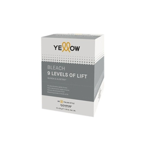 Yellow Ye  New Color Bleaching Powder 9 tons Sache 12x50gr