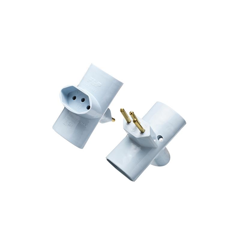 Adaptador Com 3 Saídas 2P+T 10A Cinza 1212028 FLP