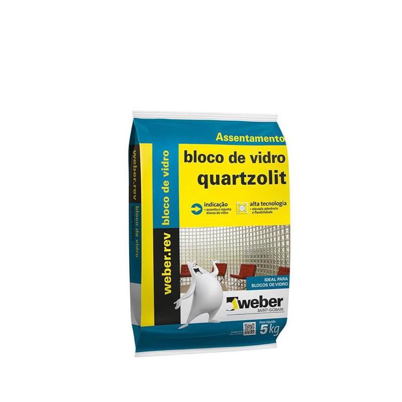 Argamassa Quartzolit 5Kg Bloco De Vidro