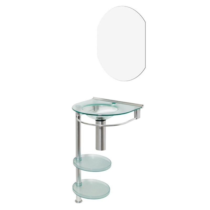 Bancada Turmalina 50 x 44Cm Com Espelho 940 Cris-Metal
