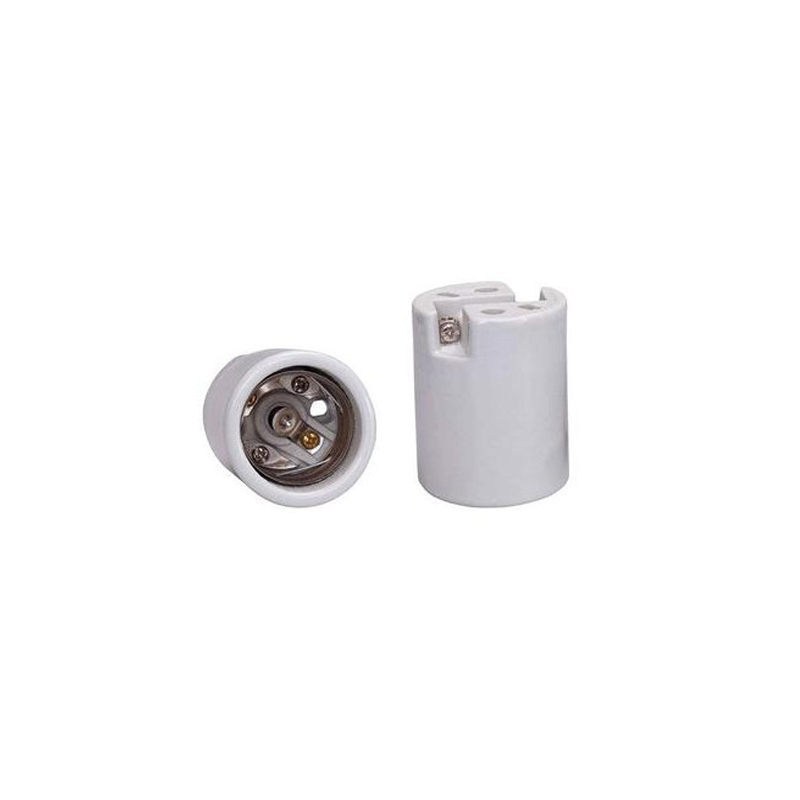 Bocal Soquete E-40 Branco 16A-500V MT2403 Decorlux