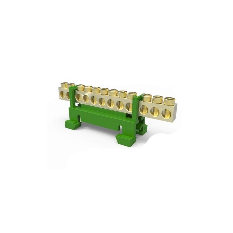 Borneira 12 Furos Verde Sbtn-E12T Enerbras