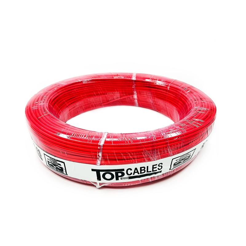 Cabo Elétrico 2,5mm Vermelho Peça Top Cables