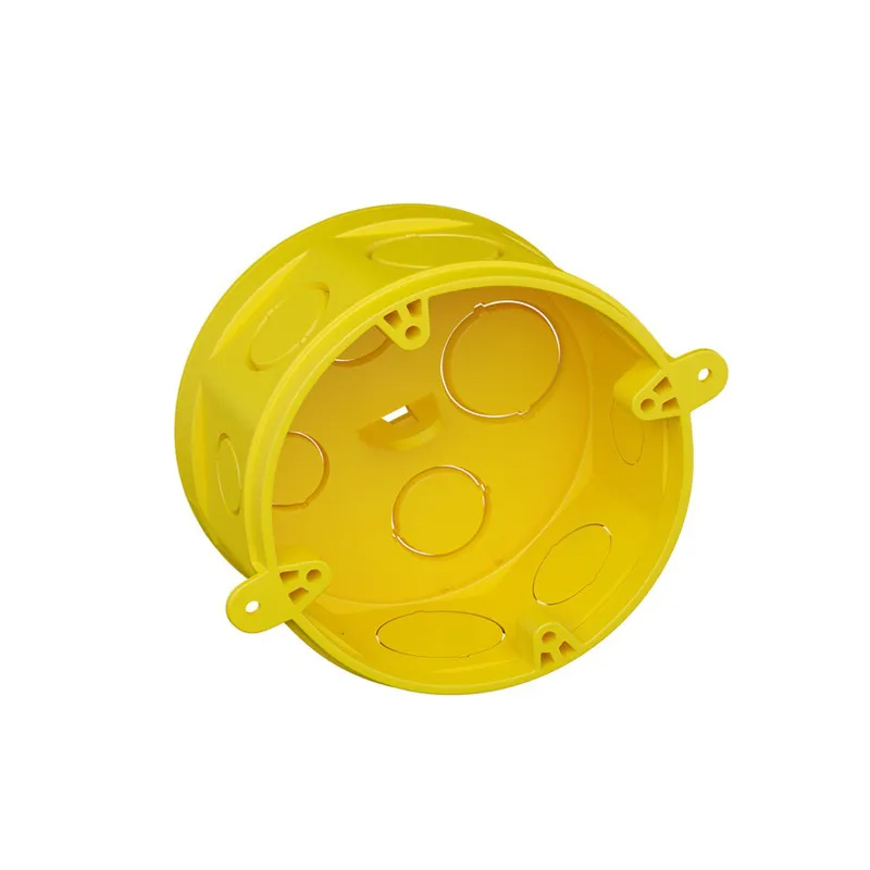 Caixa De Luz Octogonal 4 x 4 Amarelo Fortlev