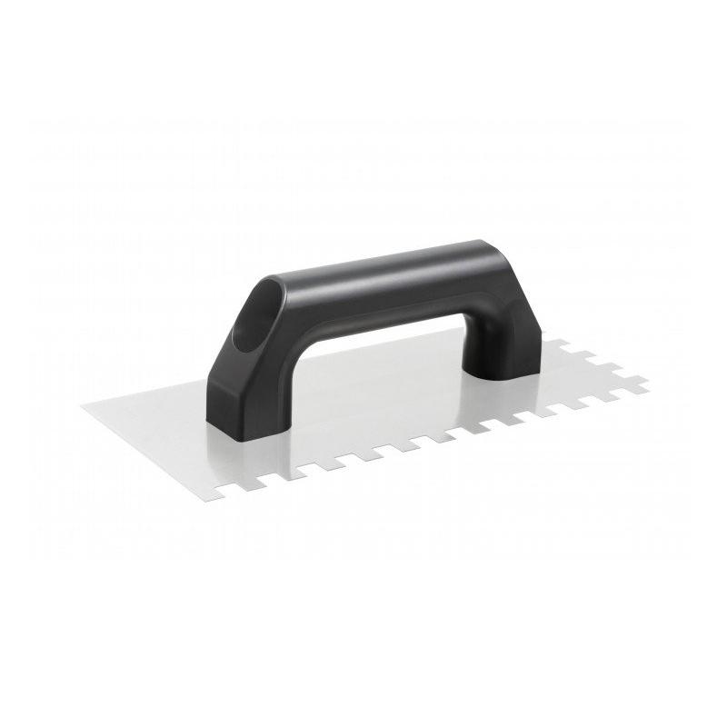 Desempenadeira De Aço Dentada Com Cabo De Plastico 10X10 26cm Cortag