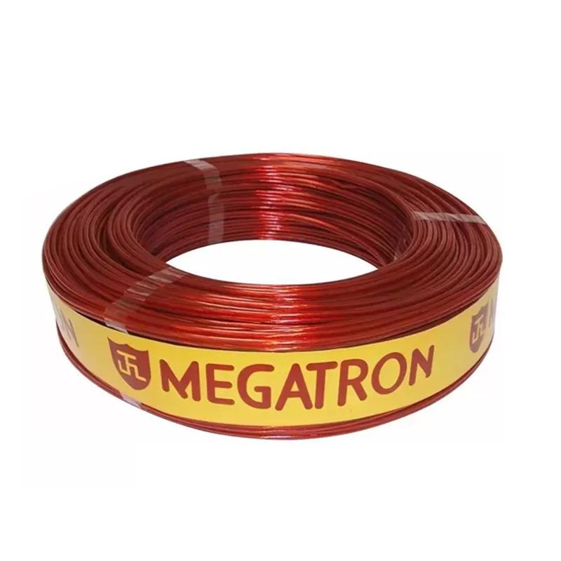 Fio Bicolor Para Som 0.875mm Preto-Vermelho Megatron
