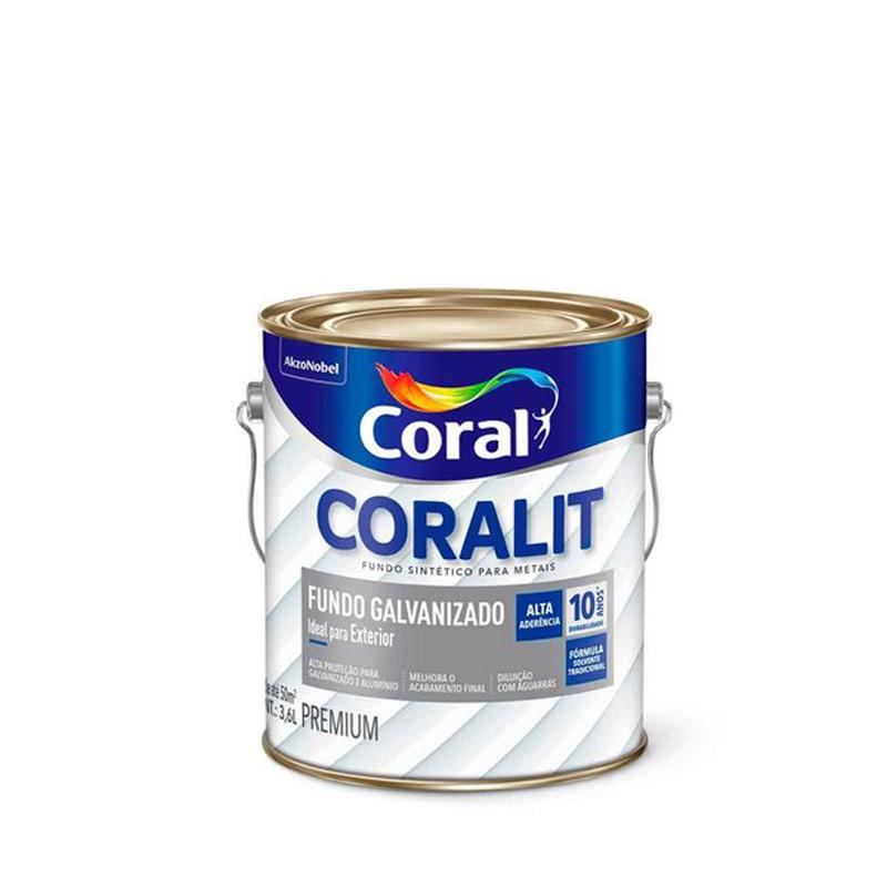 Fundo Para Galvanizado Coralit 3,6L Branco Coral