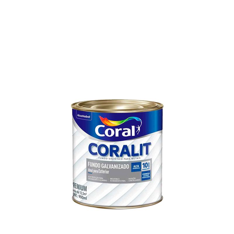 Fundo Para Galvanizado Coralit 900mL Branco Coral