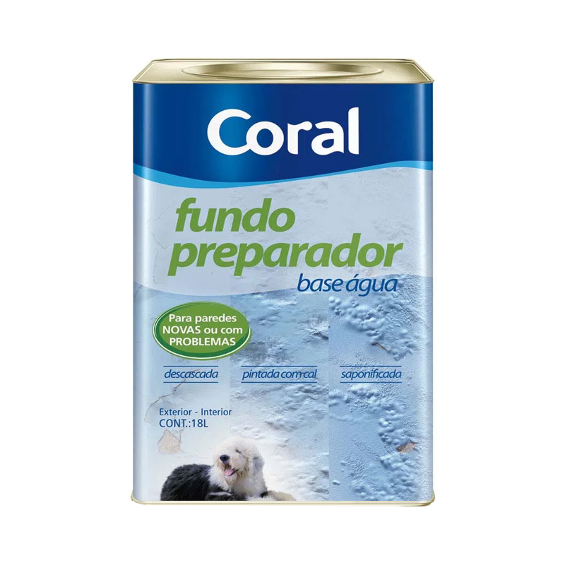 Fundo Preparador Base D'Água 18L Incolor Coral