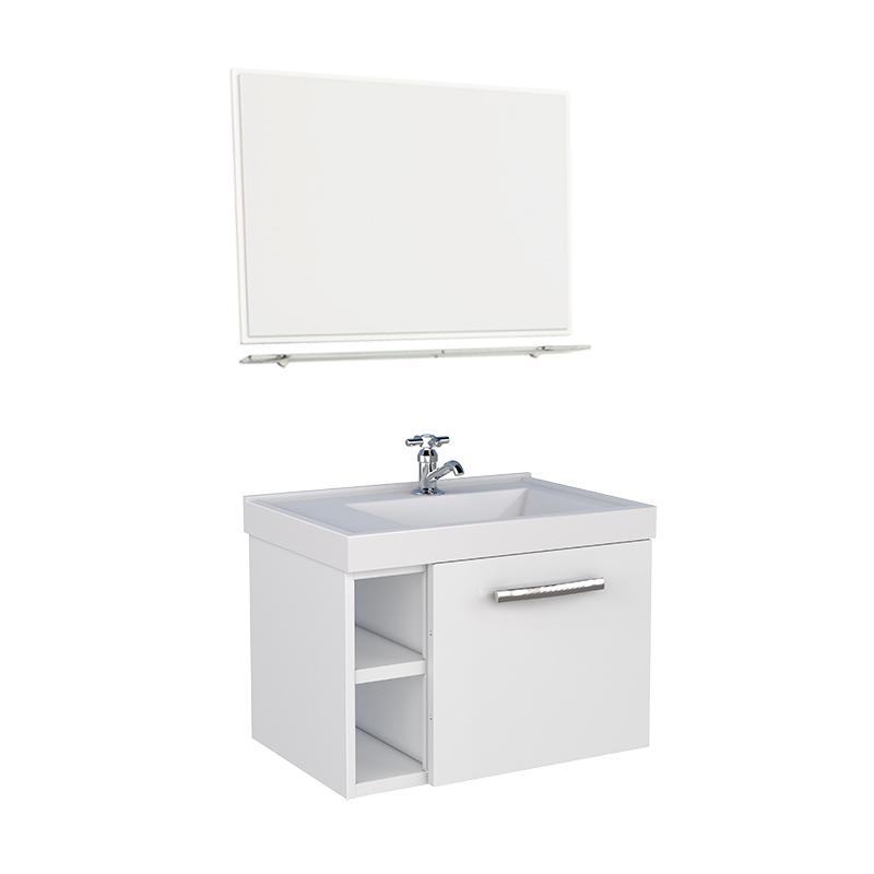 Gabinete De Aço Amora Flat Branco Com Espelho Cozimax
