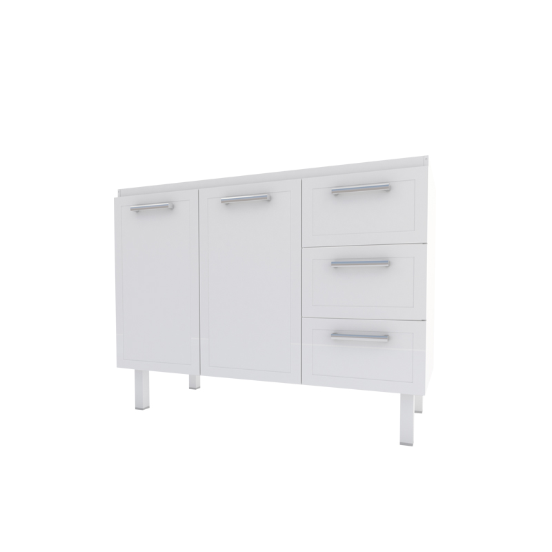 Gabinete De Aço Para Cozinha Apolo Flat 1,20M Branco Cozimax