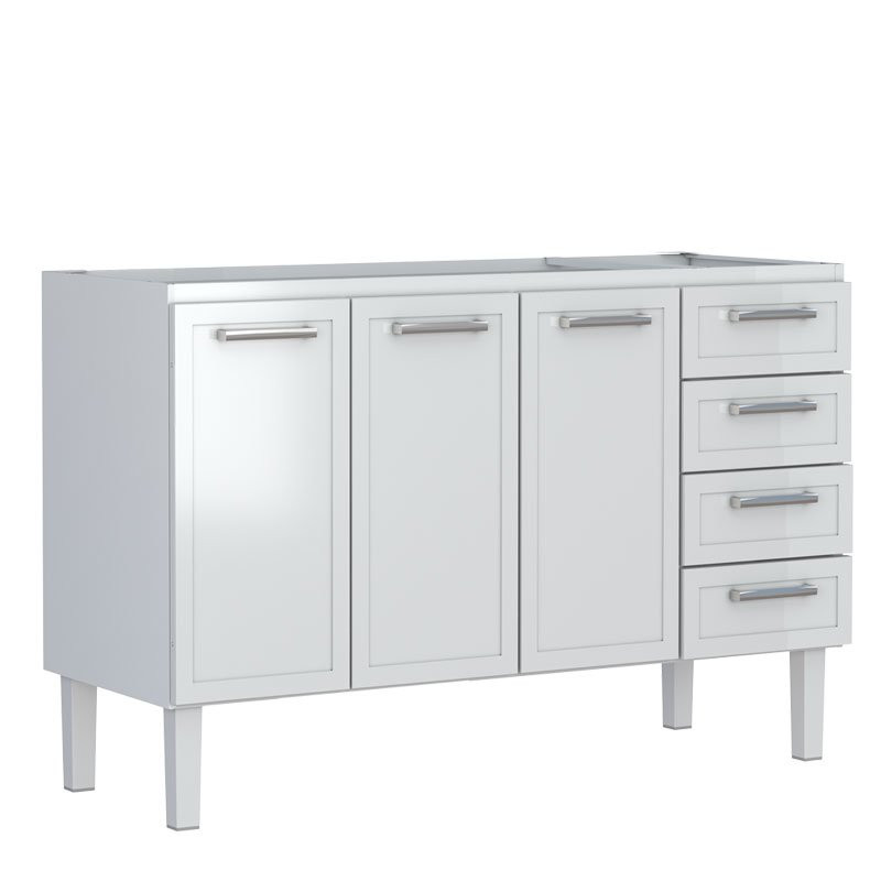 Gabinete De Aço Para Cozinha Apolo Flat 1,50 Branco Cozimax