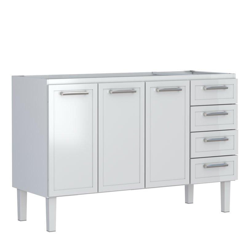 Gabinete De Aço Para Cozinha Apolo Flat 1,50M Branco Cozimax