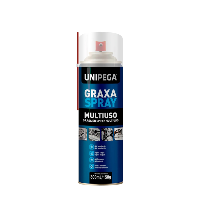 Graxa Em Spray 300mL Branca Unipega