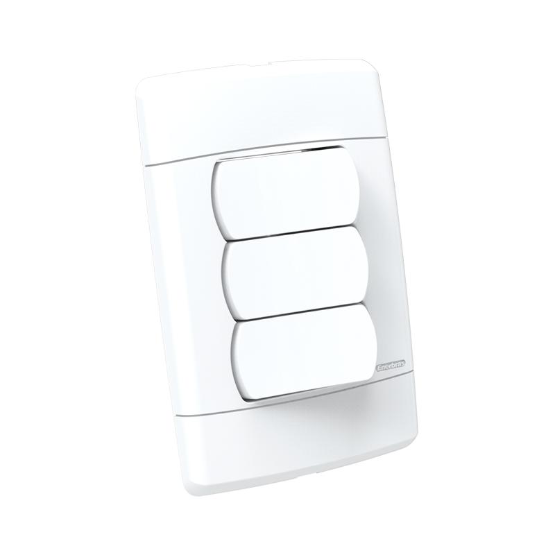 Interruptor 3 Teclas Simples 10A Sottile 5108-Es Enerbras