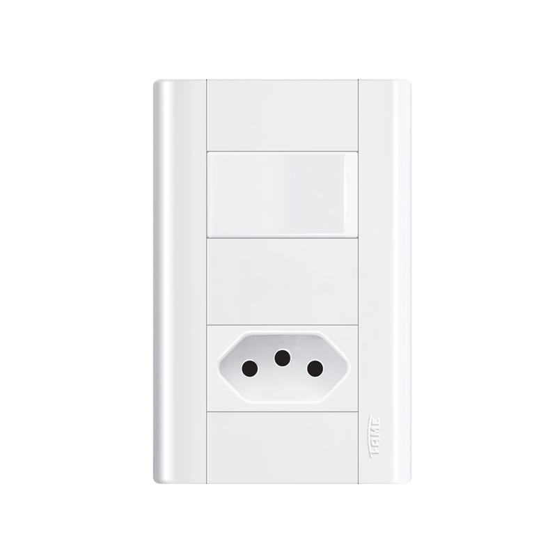 Interruptor Com Tomada 2P+T 10A Modulare 1435 Fame