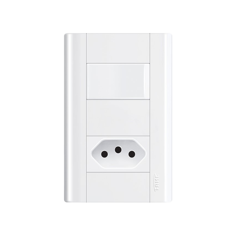 Interruptor Com Tomada 2P+T 10A Modulare 3899 Fame