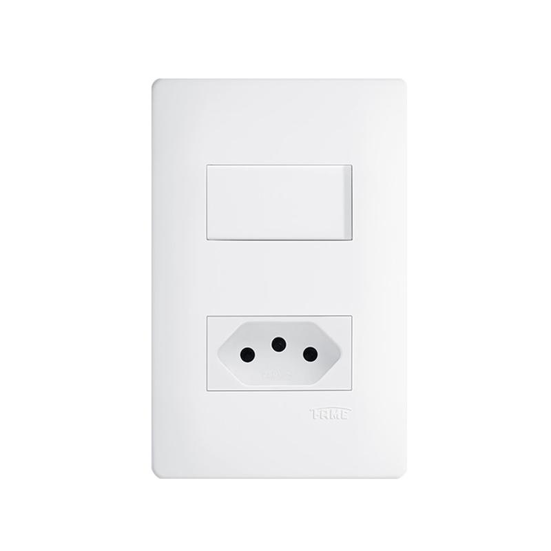 Interruptor Com Tomada 2P+T 20A Habitat 2101 Fame