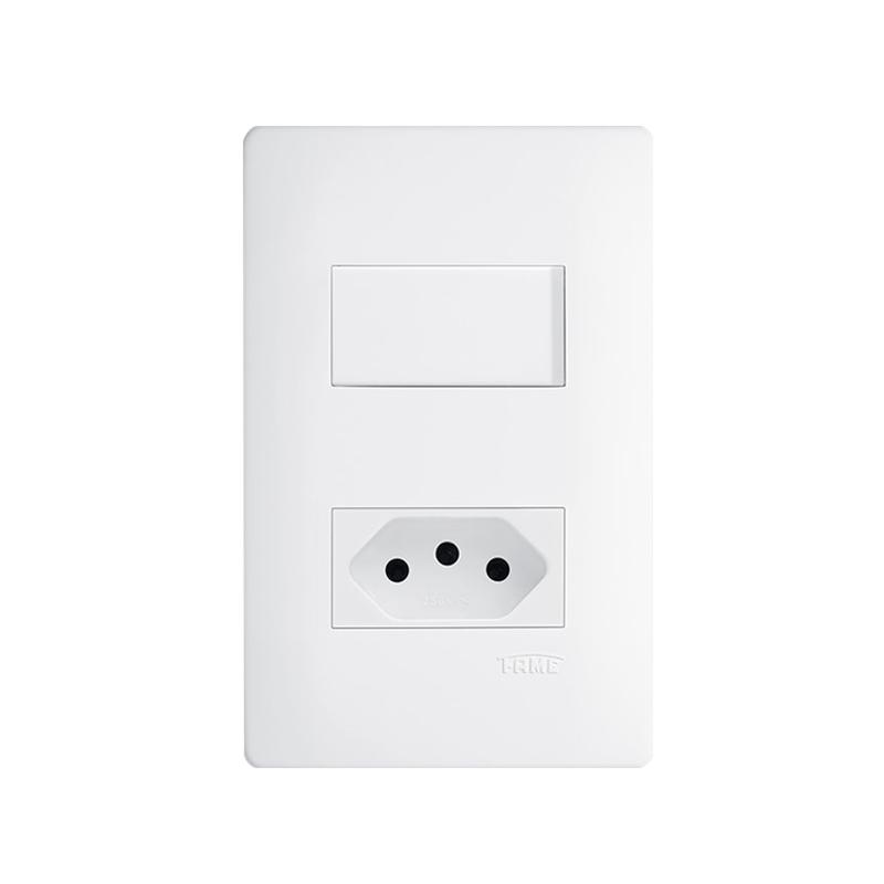 Interruptor Simples 2P+T 10A Habitat 2100 Fame
